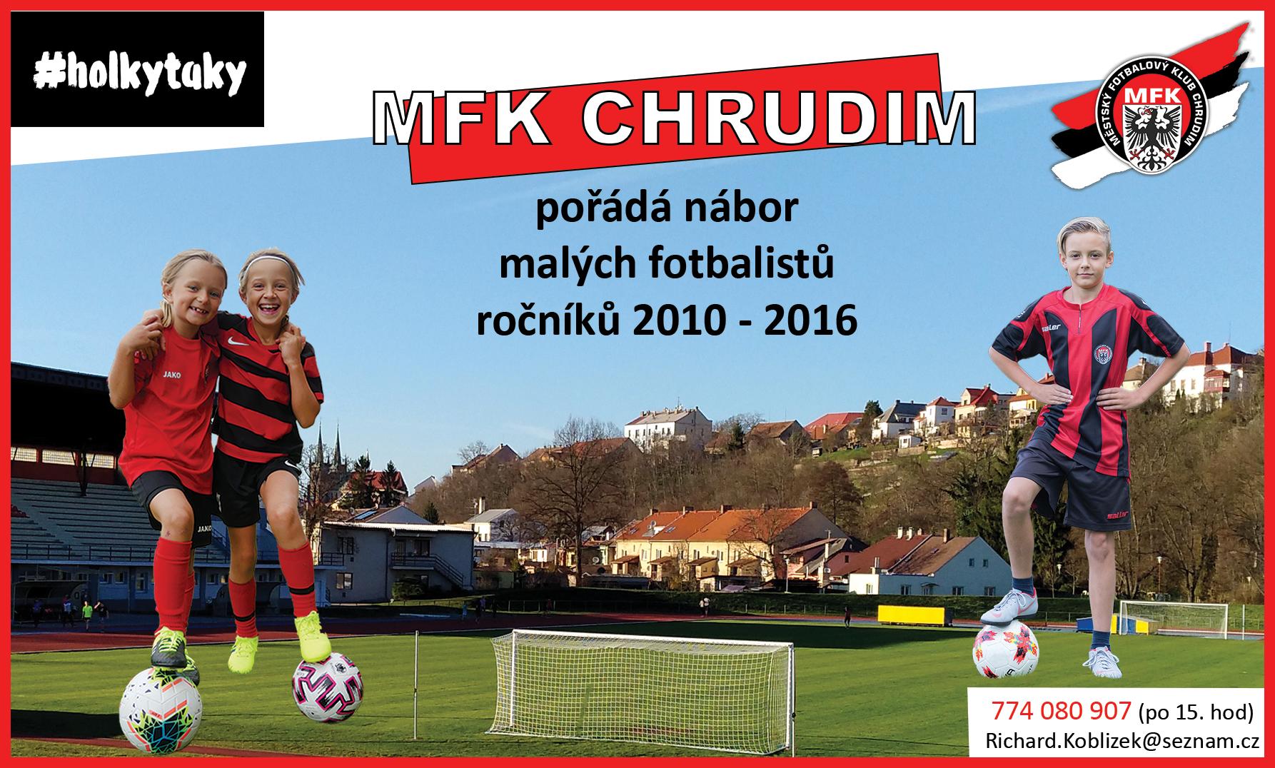 MFK Chrudim pořádá nábor malých fotbalistů